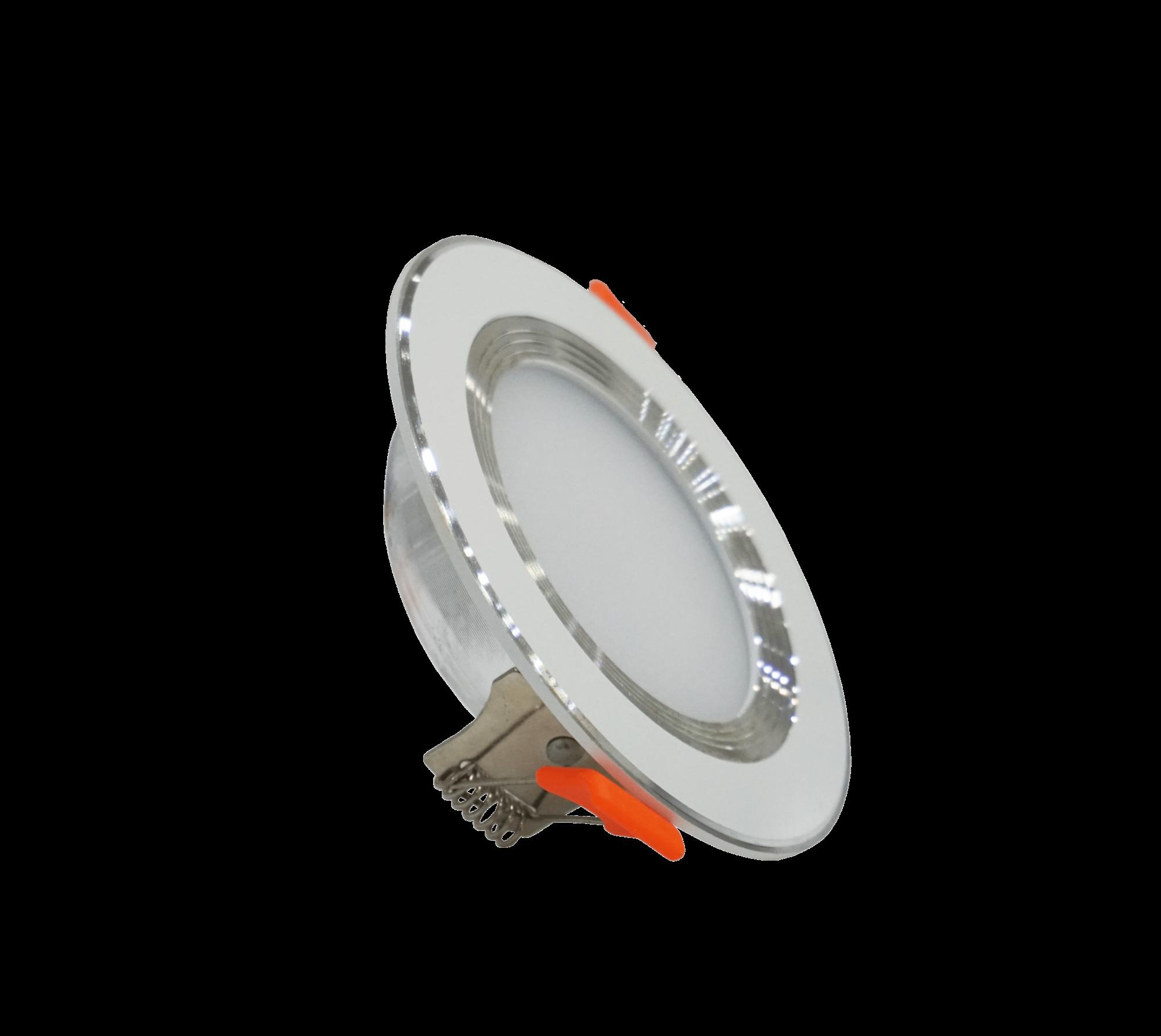 Đèn LED âm trần chống chói mỏng 9W viền trắng đơn sắc
