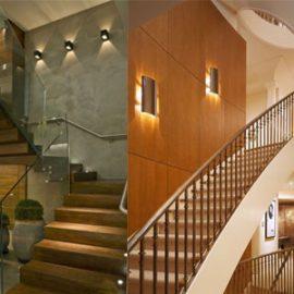 Đèn ốp tường cầu thang thông dụng