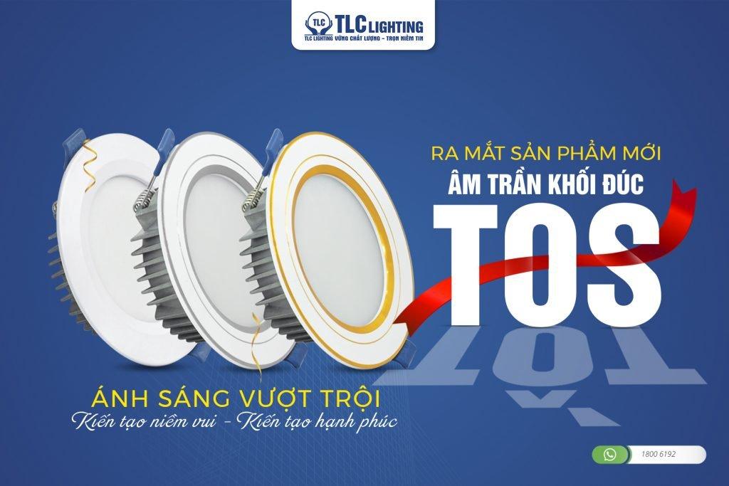 Đèn LED âm trần khối đúc TOS của TLC Lighting.