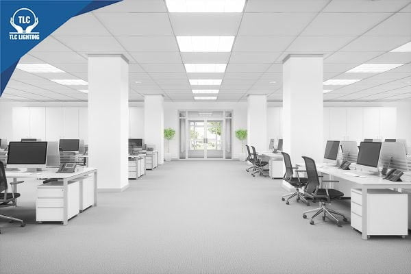 Đèn LED Panel tấm phù hợp với không gian văn phòng lớn